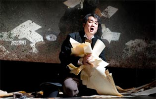 Jaewoo Kim (Lensky). English Touring Opera, Eugene Onegin. Photograph: Richard Hubert Smith