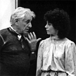 JoAnn Falletta with Leonard Bernstein. Photograph: Louis Brunelli