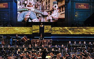 Wallace and Gromit make their debut at the BBC Proms. Photograph: BBC/Chris Christodoulou