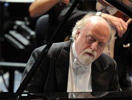 Peter Donohoe performs with the BBC Concert Orchestra at the Desert Island Discs 70th-Anniversary BBC Prom. Photograph: BBC/Chris Christodoulou