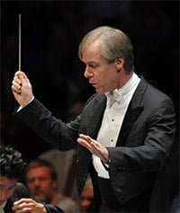 David Robertson conducts the St Louis Symphony at the BBC Proms. Photograph: BBC/Chris Christodoulou