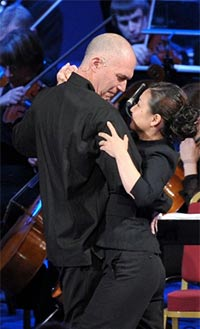 Alan Oke and Kathleen Kim as Chairman Mao and Madame Mao (Chiang Ch'ing) in John Adams's Nixon in China at the BBC Proms. Photograph: BBC/Chris Christodoulou