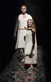 Shawn Mathey as Tamino & Elena Xanthoudakis as Pamina (The Magic Flute, ENO, September 2012). Photograph: Alastair Muir