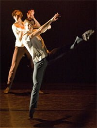 Joseph Caley & Aaron Robison (Take Five, Birmingham Royal Ballet). Photograph: Bill Cooper