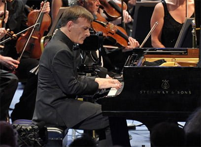 Stephen Hough performs at the First Night of the BBC Proms 2013. Photograph: BBC/Chris Christodoulou
