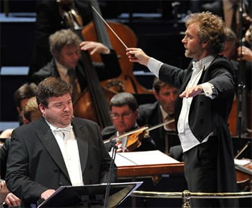 Thomas Søndergård and Michael Weinius at the BBC Proms. Photograph: BBC/Chris Christodoulou