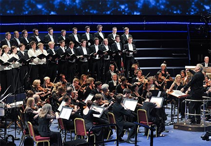 Sir John Eliot Gardiner conducts the Monteverdi Choir and English Baroque Soloists at the BBC Proms. Photograph: BBC/Chris Christodoulou