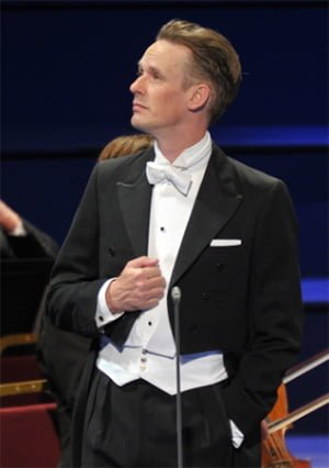 Ian Bostridge performs with the London Symphony Orchestra at the BBC Proms. Photograph: BBC/Chris Christodoulou