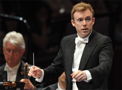 Daniel Harding conducts the London Symphony Orchestra at the BBC Proms. Photograph: BBC/Chris Christodoulou