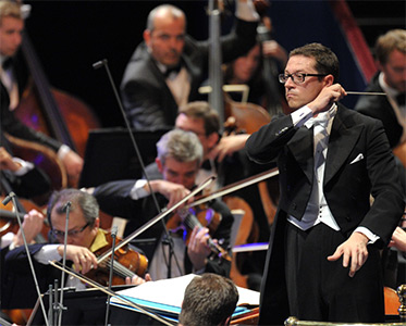 John Wilson conducts the John Wilson Orchestra at the BBC Proms. Photograph: BBC/Chris Christodoulou