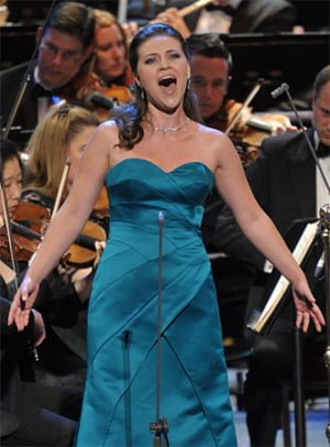 Venera Gimadieva with the John Wilson Orchestra at the BBC Proms. Photograph: BBC/Chris Christodoulou