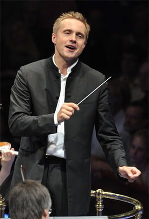 Vasily Petrenko conducts the Oslo Philharmonic Orchestra at the BBC Proms. Photograph: BBC/Chris Christodoulou