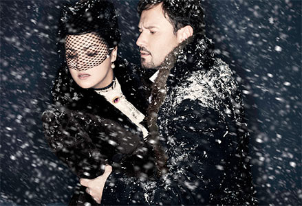 Tchaikovsky's Eugene Onegin with Anna Netrebko as Tatiana and Mariusz Kwiecien as Eugene Onegin. Photograph: Lee Broomfield/Metropolitan Opera