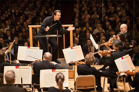 Andris Nelsons conducts the Boston Symphony Orchestra. Photograph: Marco Borggreve
