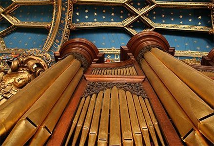 Close up of pipes, Chapel Royal Organ. Photograph: www.chapelroyal.org