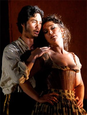 Yonghoon Lee as Don José & Christine Rice as Carmen (Carmen, The Royal Opera). Photograph: Catherine Ashmore