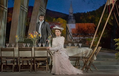 Jonas Kaufmann as the title character & Sophie Koch as Charlotte in Massenet's Werther. Photograph: Ken Howard / Metropolitan Opera