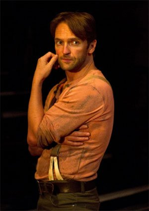 Tim Rogers as Billy Bigelow (Carousel, Arcola Theatre). Photograph: QNQ Creative
