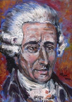 Painting of Joseph Haydn © 2014 Artist: Haydn Greenway