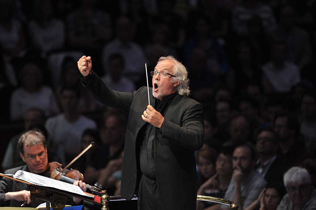 Donald Runnicles conducts the BBC Scottish Symphony Orchestra for the BBC Proms 2014. Photograph: BBC/Chris Christodoulou