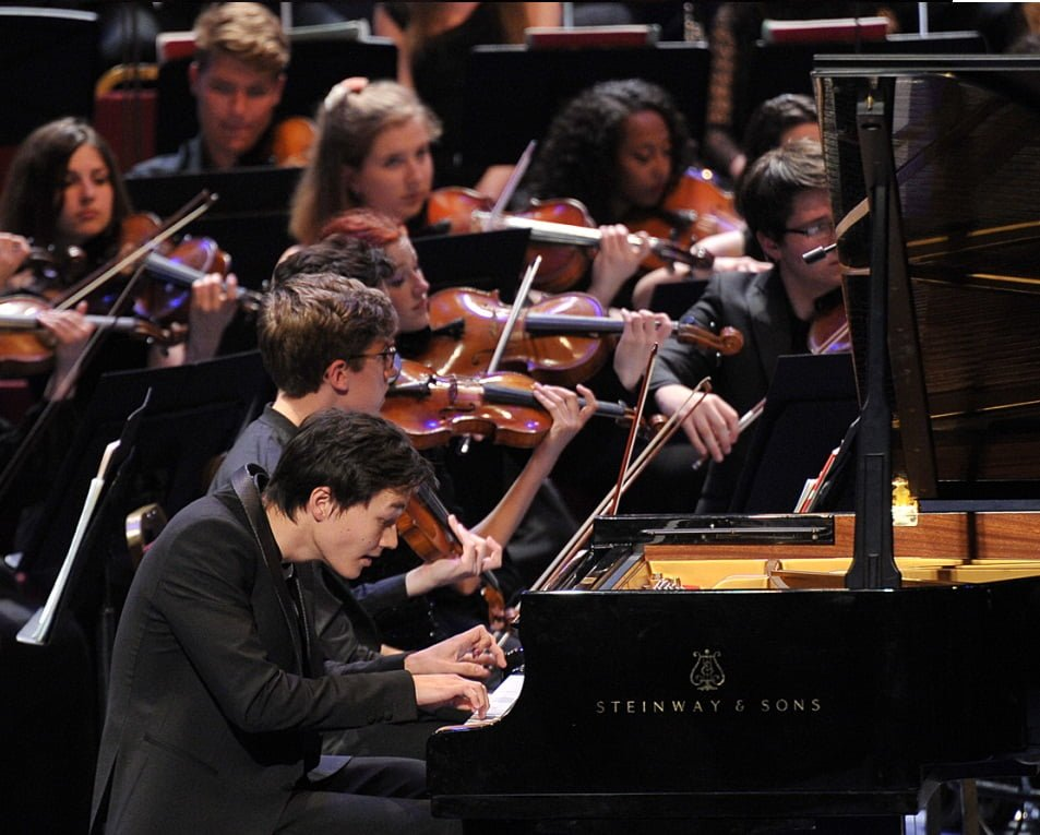 Louis Schwizgebel makes his BBC Proms debut performing Prokofiev's Piano Concerto No. 1 in D flat major with the National Youth Orchestra of Great Britain at the BBC Proms 2014. Photograph: Chris Christodoulou