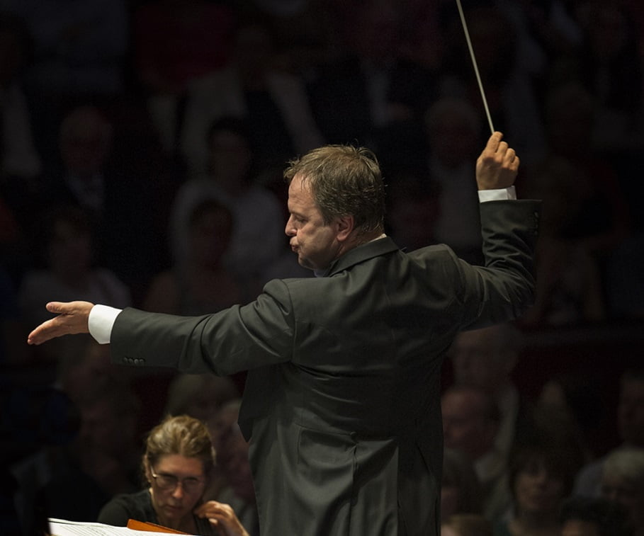 Sakari Oramo conducts the BBC Symphony Orchestra at the BBC Proms 2014. Photograph: Sim Canetty-Clarke