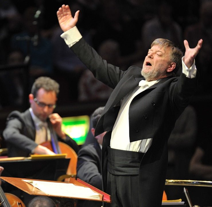 Sir Andrew Davis conducts the Melbourne Symphony Orchestra at the BBC Proms 2014. Photograph: Chris Christodoulou