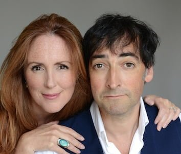 Alistair McGowan and Charlotte Page. Photograph: Clare Park