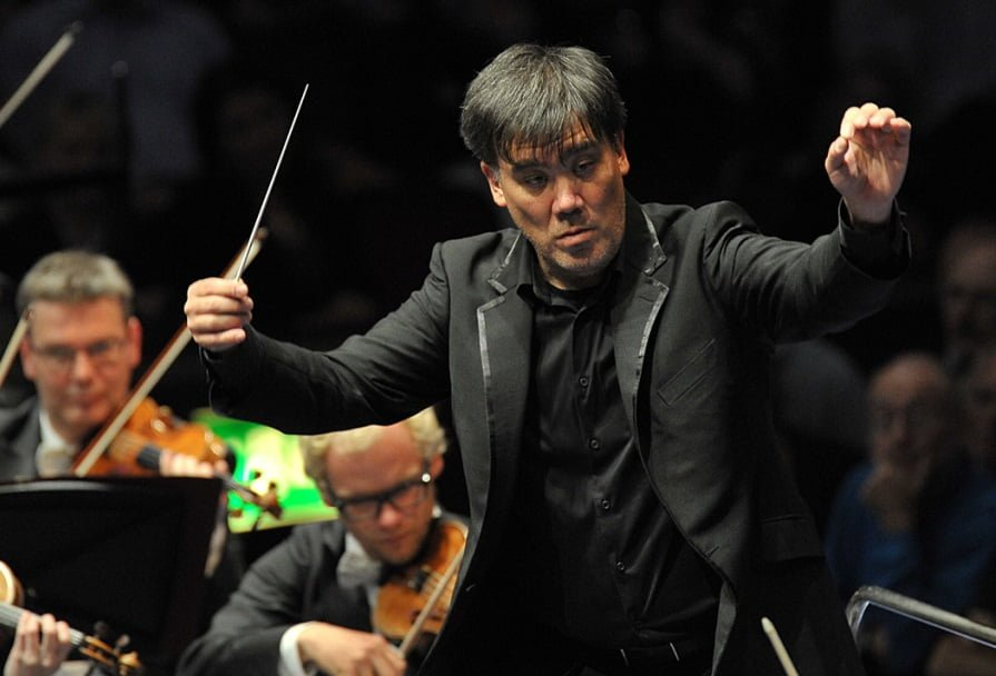 Alan Gilbert conducts the Leipzig Gewandhaus Choir, Leipzig Gewandhaus Children's Choir, Leipzig Opera Chorus, London Symphony Chorus, Leipzig Gewandhaus Orchestra, and soloists in Beethoven's Symphony No. 9 in D minor, 'Choral', at the BBC Proms 2014. Photograph: Chris Christodoulou