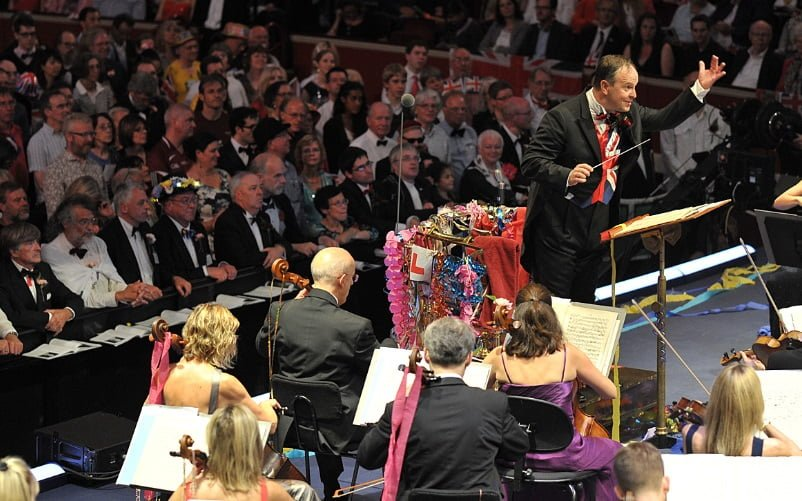 Sakari Oramo conducts the BBC Symphony Orchestra at the Last Night of the Proms 2014. Photograph: Chris Christodoulou