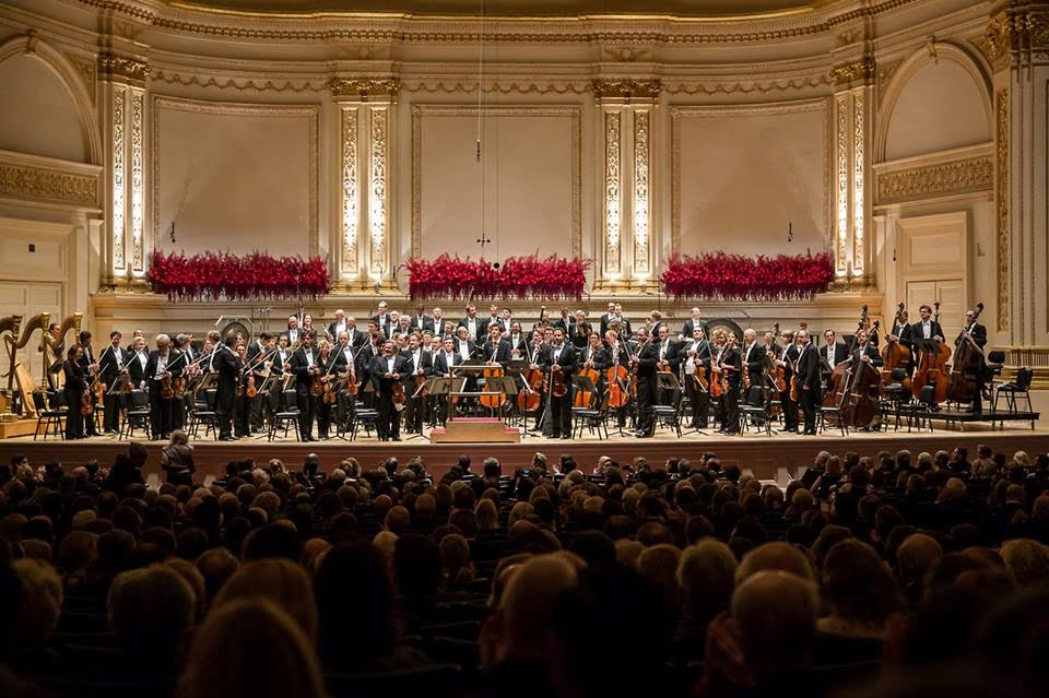 Sir Simon Rattle conducts the Berliner Philharmoniker at Carnegie Hall. Photograph: Berliner Philharmoniker facebook page