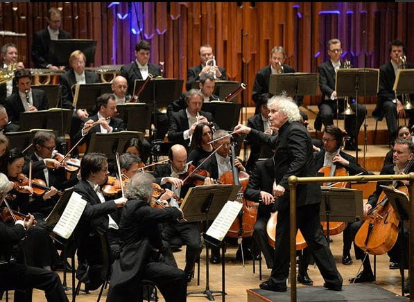 Sir Simon Rattle conducts the Berliner Philharmoniker at Barbican Hall, London 2015Photograph: Mark Allen / Barbican