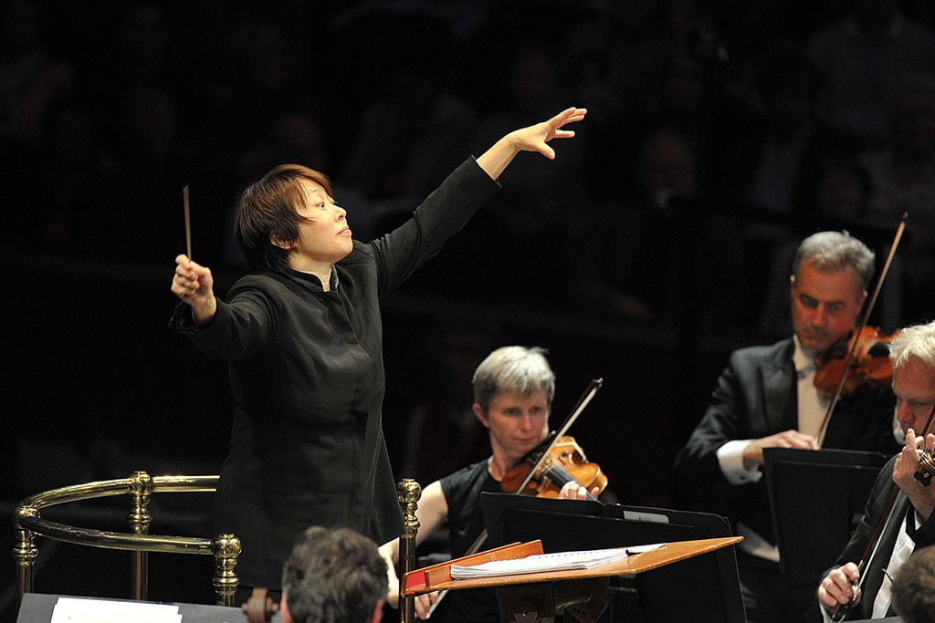 Xian Zhang conducts BBC National Orchestra of Wales at the BBC Proms 2015 at the Royal Albert Hall on Wednesday 29 July.Photograph: BBC/Chris Christodoulou