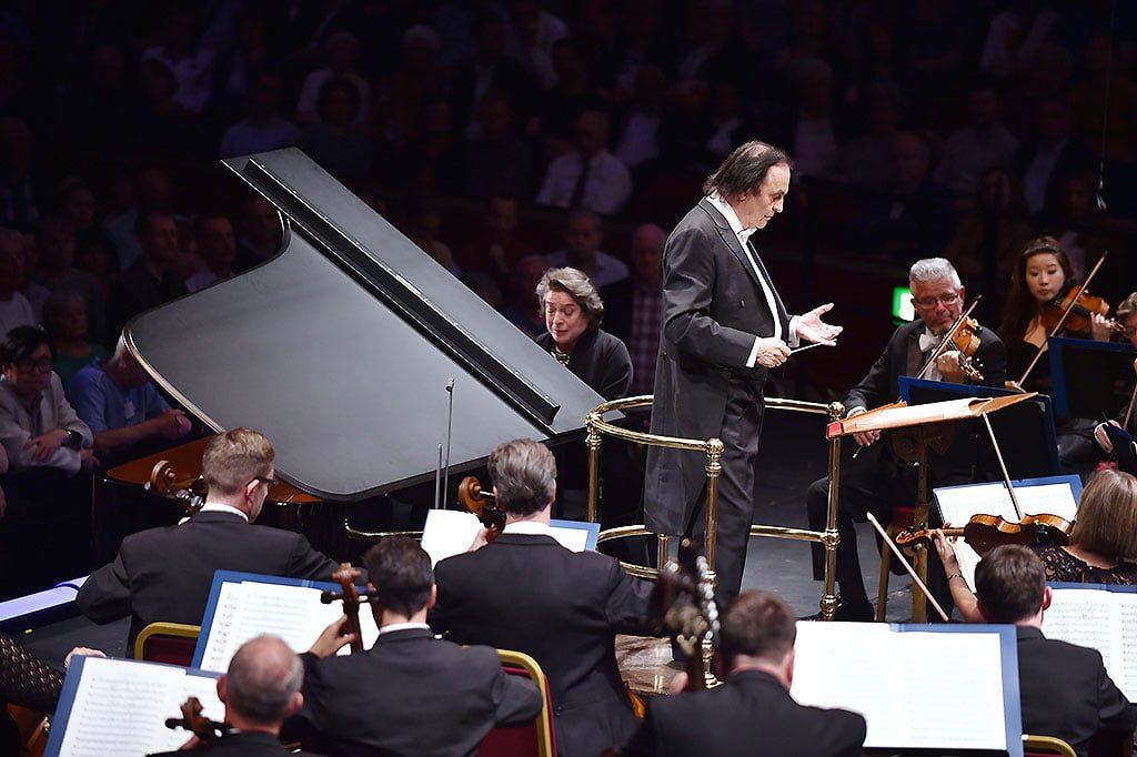 Pianist Elisabeth Leonskaja performs Mozart's Piano Concerto No.22 in E flat major with the Royal Philharmonic Orchestra at the BBC Proms 2015.Photograph: BBC/Sarah Jeynes