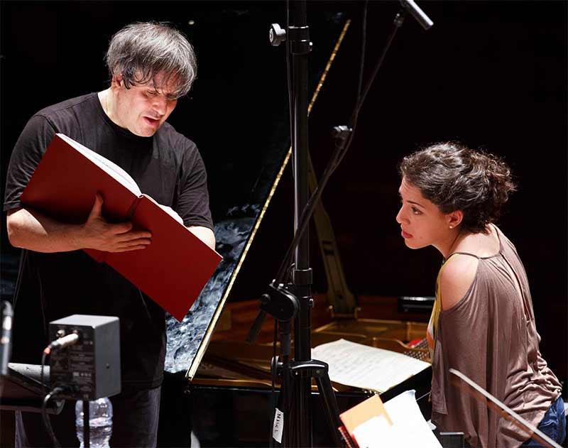 Beatrice Rana & Antonio Pappano during the recording sessionsPhotograph: Musacchio & Ianniello