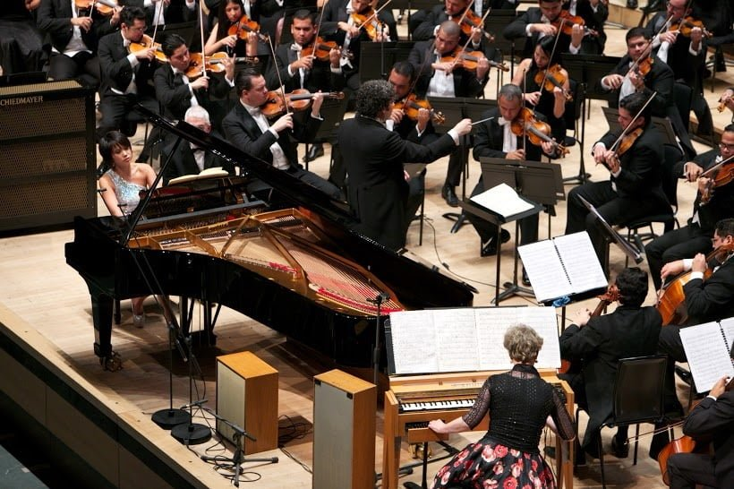 Gustavo Dudamel, Simon Bolivar Symphony Orchestra with Yuja Wang (piano) and Cynthia Millar (ondes martenot) at Royal Festival Hall, Saturday 16 January 2016Photograph: © Nohely Oliveros