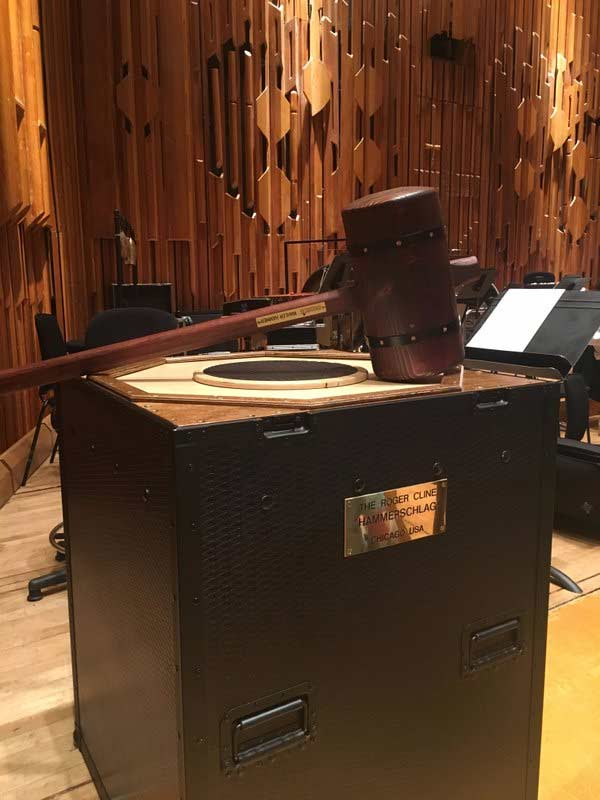 The hammer used in the performance of Mahler 6Photograph: @LondonSymphony Twitter