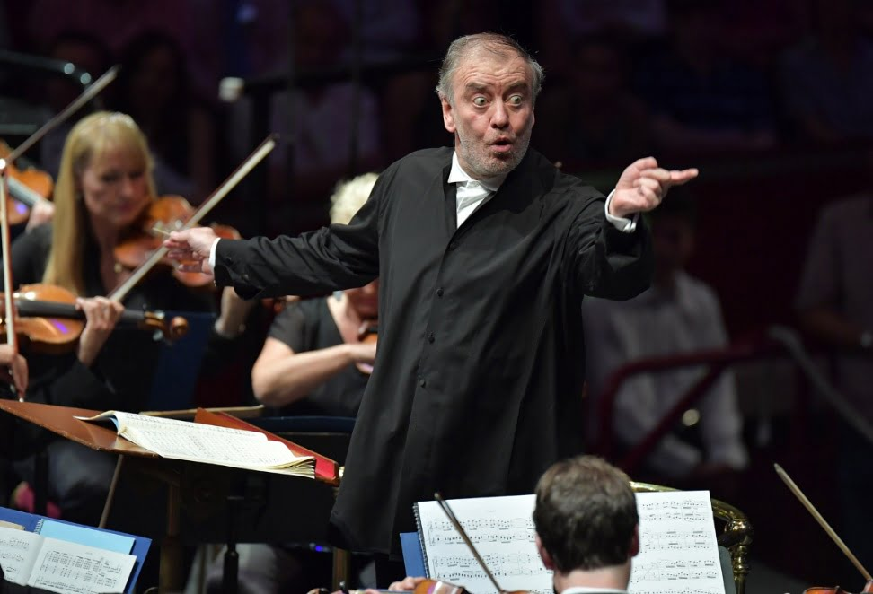 Valery Gergiev conducts the Munich Philharmonic Orchestra at the BBC Proms 2016Photograph: BBC/Chris Christodoulou