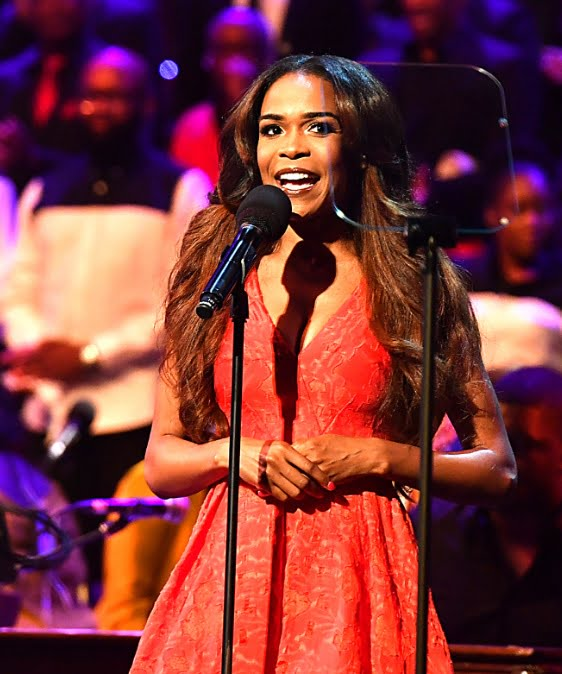 Michelle Williams hosts and performs in the Late Night Gospel Prom, at the 2016 BBC PromsPhotograph: BBC/Mark Allan