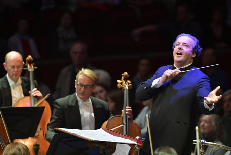 The BBC Philharmonic performs Mark Simpson's Israfel under the direction of Juanjo Mena at the BBC Proms 2016 Photograph: BBC/Chris Christodoulou