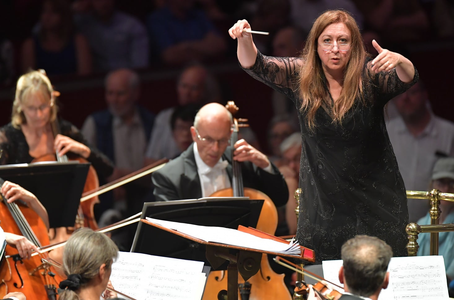 Simone Young conducting the BBC Symphony Orchestra at the BBC Proms on Wednesday 31 August 2016Photograph:  BBC/Chris Christodoulou
