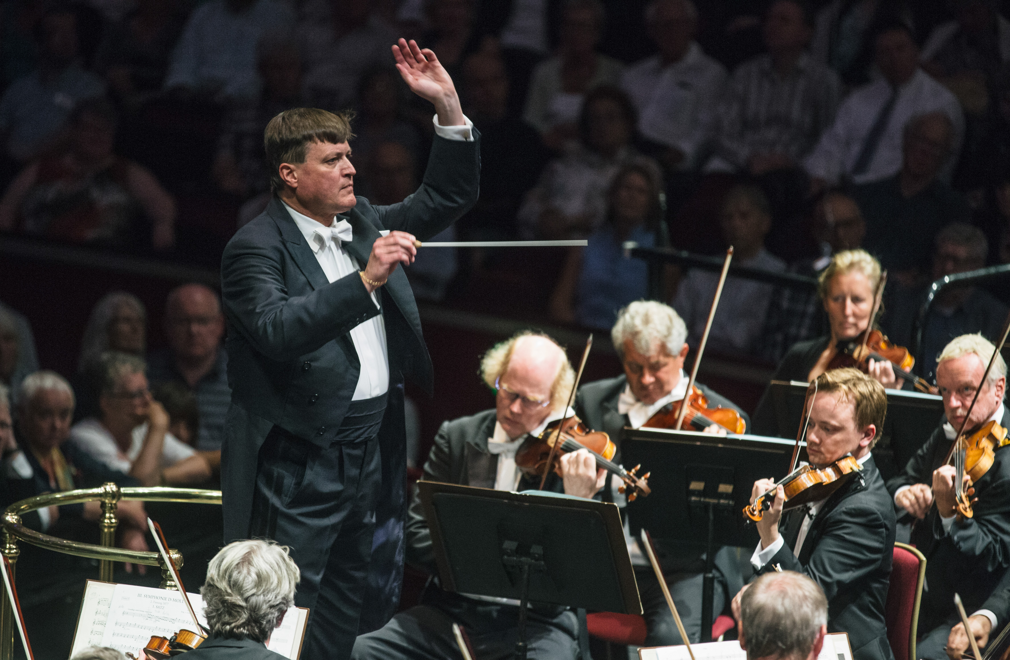 Christian Thielemann conducts the Staatskapelle Dresden in Mozart and Bruckner at the BBC Prom 2016Photograph: BBC/Oliver Killig