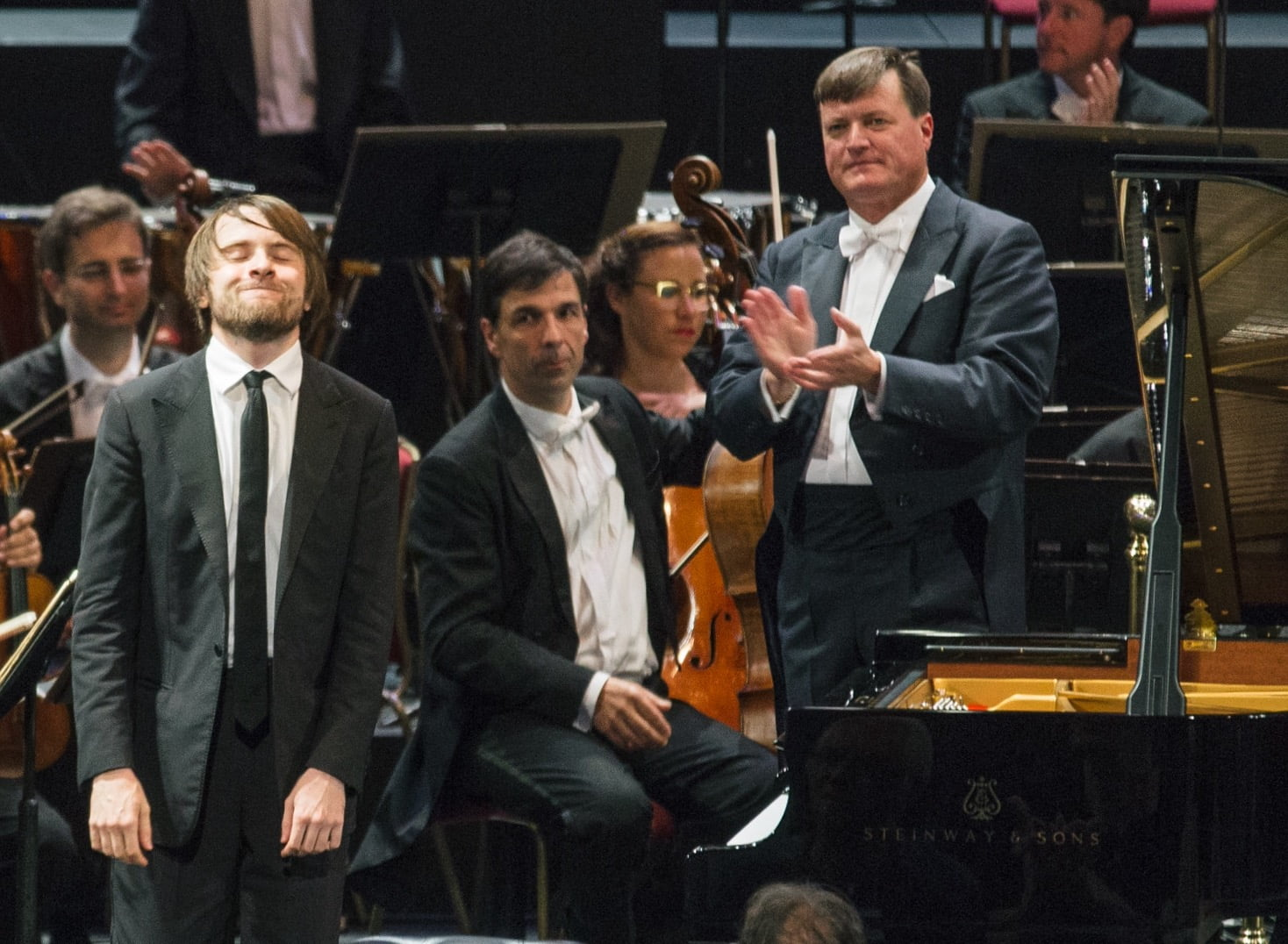 Christian Thielemann, Daniil Trifonov and the Staatskapelle Dresden at the BBC Prom 2016Photograph: BBC/Oliver Killig