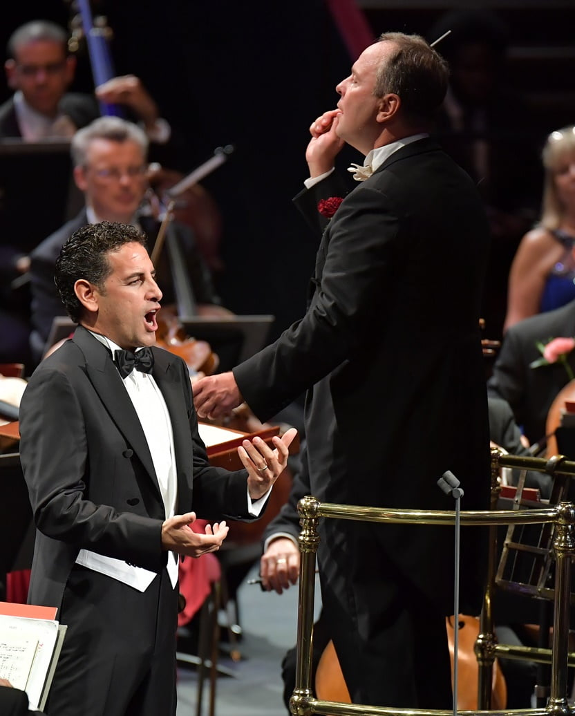 Tenor Juan Diego Flórez performs with the BBC Singers, the BBC Symphony Chorus and the BBC Symphony Orchestra conducted by Sakari Oramo at the Last Night of the Proms 2016Photograph: BBC/Christodoulou