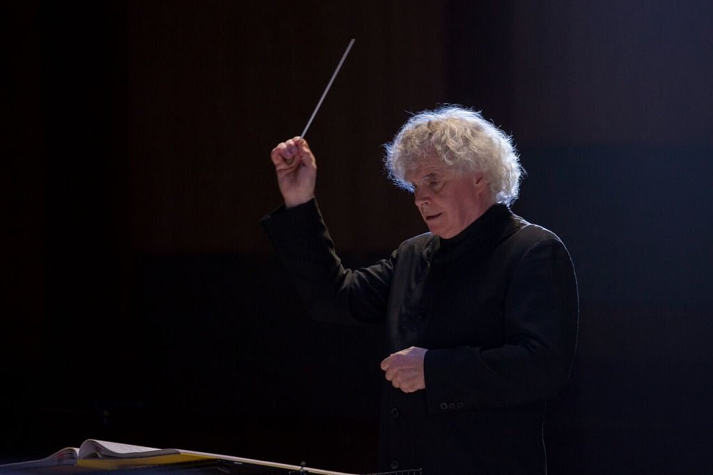 Sir Simon Rattle conducts Ligeti's Le grand macabre, directed by Peter SellarsPhotograph: John Phillips/Getty Images