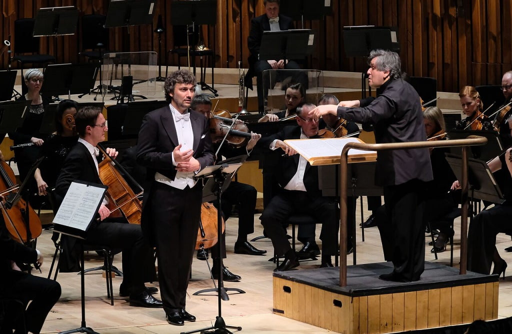 Jonas Kaufmann conducted by Sir Antonio Pappano with the LSO in Barbican HallPhotograph: Mark Allan / Barbican