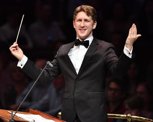 Joshua Weilerstein makes his BBC Proms debut conducting the BBC Symphony Orchestra at the Royal Albert HallPhotograph: Chris Christodoulou/BBC
