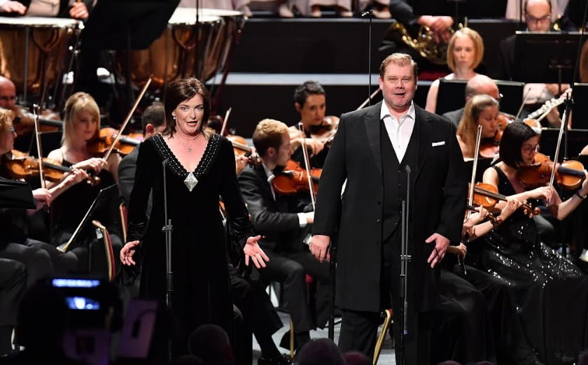 Ricarda Merbeth and Stuart Skelton play Leonore and Florestan in Beethoven's Fidelio with the BBC Philharmonic Orchestra, conducted by Juanjo Mena at the 2017 BBC Proms at the Royal Albert HallPhotograph: Chris Christodoulou/BBC