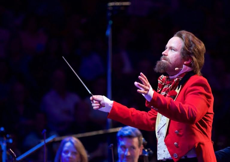 Actor Rory Kinnear in the role of Sir Henry Wood at Ten Pieces Presents… Sir Henry's Magnificent Musical Inspirations at the 2017 BBC PromsPhotograph: Pete Dadds/BBC