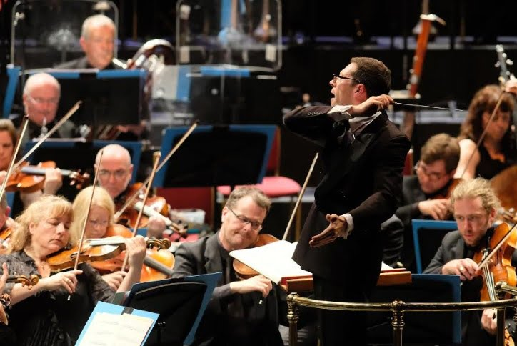 John Wilson conducts the BBC Scottish Symphony Orchestra in a programme of Vaughan Williams and Holst at the BBC Proms at the Royal Albert HallPhotograph: Mark Allan/BBC